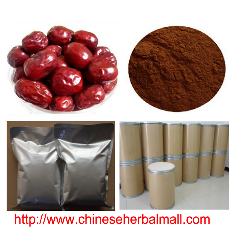 100g Natural Chinese Date Extract power * Fructus Jujubae extract, polysaccheride 40% 10: 1, Improve sleep