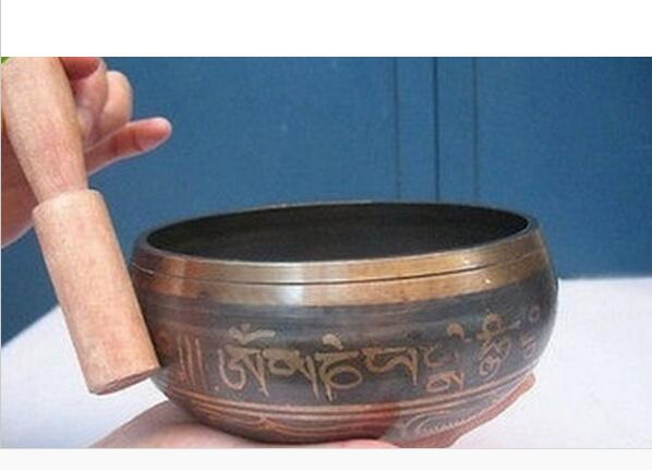 Tibetan Singing Bowls High Quality with Striker, 10.5 cm Wide